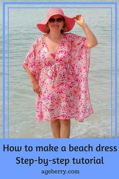 Free online sewing patterns for beginners easiest sewing patterns easy sewing projects for beginners easy sewing projects clothes beach dress instructions diy swimsuit cover up how to make a beach cover up dress how to make a swimsuit cover-up Beach Coverup Pattern, Dress Sewing Tutorials, Sewing Tips, Sewing Hacks, Sewing Basics, Sewing Ideas, Plus Size Sewing Patterns, Pattern Sewing, Free Pattern