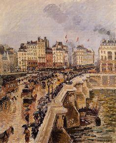 Мост Пон-Нёф - Дождливый день (1901). Камиль Писсарро