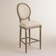 Natural Linen Paige Barstool | World Market $279.99 For the Kitchen Island (probably 3)