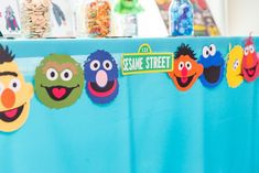 Sesame Street banner from a Birthday Party at Sesame Street at Kara's Party Ideas. See more at karaspartyideas.com!