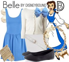 Belle Inspired Outfit by DisneyBound. Edna Mode, Casual Outfits, Cute Outfits, Fashion Outfits, Movie Outfits, Disneybound Outfits, Belle Disneybound, Disney Mode, Belle Outfit