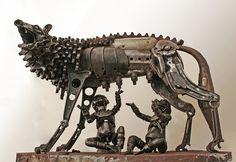 Le straordinarie sculture in metallo riciclato di Patrick Alò | KEBLOG