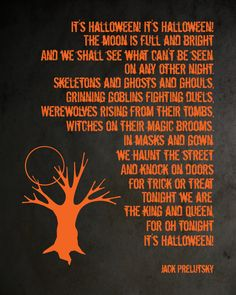 A Matter of Memories: :PRINTABLE: It's Halloween Poem Printable