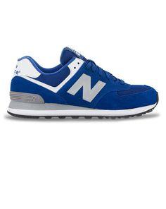 Sneakers 574 Suede Bleu Roi NEW BALANCE homme Baskets bleu homme prix  89  euros pointure  44 dd22ca3eecf1