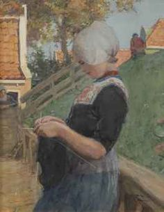 Portrait of a Volendam girl