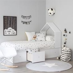 casita bed with drawers - Kenay Home Baby Bedroom, Baby Boy Rooms, Little Girl Rooms, Girls Bedroom, Trendy Bedroom, White Bedroom, Bedroom Decor, Nursery Boy, White Nursery