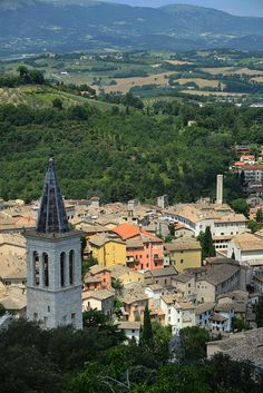 From La Rocca looking down at the perfect medieval town