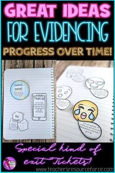 Ideas for evidencing progress over time in your lessons; why you shouldn't throw away exit tickets! /resourceforce/ Upper Elementary Resources, Free Teaching Resources, Teaching Social Studies, Student Teaching, School Resources, Teaching Tips, New Teachers, Teacher Blogs, Student Data Tracking