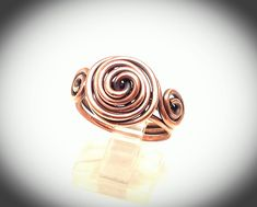 Wire wrapped ring. Copper wire ring. Wire jewelry. Copper wire ring, simple copper ring, by JCLwire on Etsy