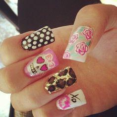 Love the skull & leopard print! #nails #nail #art