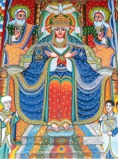 ethiopian orthodox art | Theotokos Mary Mother of Christ Ethiopian Orthodox Modern Postcard