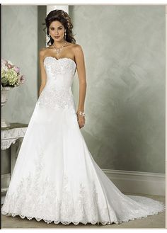 Elegant A-line Style Satin Wedding Dress With First-class Fabric And Great Handwork