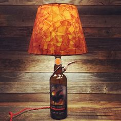 Lamp made from up cycled game of thrones beer bottle