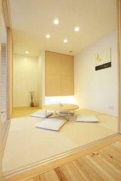和室 Japanese Interior Design, Japanese Home Decor, Japanese House, Home Interior Design, Simple Living Room, Home Living Room, Japan Room, Tatami Room, Japan Interior