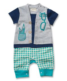 Turquoise Pencil Romper - Infant