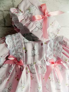 Reborn/Baby 0-3 months stunning frilly Dress with   lots of