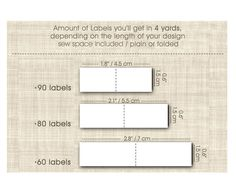 ✿ SEW ON PERSONALIZED FABRIC LABELS  Cotton ribbon / twill ribbon / rustic  4 yards of printed ribbon  width: 0,60  / 1,5 cm The amount of labels depends on the length design ----------------------------------------------------------------------------------------------- • Washable • Not frays • White or ivory color • 1 or 2 lines of text • Flat label or Folded label • Large choice of colors and icons • Or we can print your design • Imprinted labels are ideal for clothes, crafts...