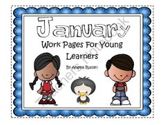 January Work Pages For Young Learners from Angie'sPage on TeachersNotebook.com -  (17 pages)  - These work pages help young children review shapes, colors, numbers, and letters
