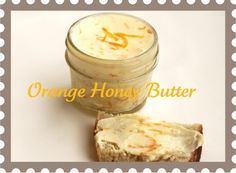 Orange Honey Butter cup butter 1 orange, zested 1 Tablespoon orange juice 1 Tablespoon honey Whip room temperature butter until it's smooth and creamy. Add to it the orange juice, zest and honey. Place in 4 oz. glass canning jar and sec Flavored Butter, Homemade Butter, Butter Recipe, Whipped Butter, Overnight Bread Recipe, Artisan Bread Recipes, Compound Butter, Butter Spread, Honey Butter