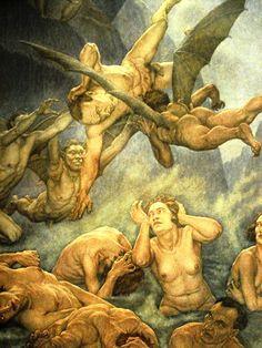 Illustrazione di Amos Nattini Dante Alighieri, Dark Art, Collage, Fine Art, 36, Inspiration, Oriental, Inspire, Paintings