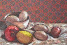 Still life with eggs - oil - 40x30 cm