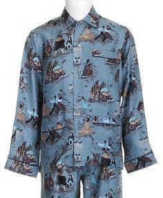 Pyjama soie Valentino homme