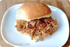 Brown sugar BBQ Pulled Pork Sliders --slow cooker