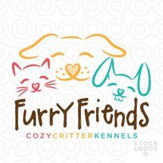 Furry Friends Veterinary Care Animal Shelter   StockLogos.com