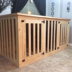 Designer Dog Crate.  Custom for two large dogs.  Newfoundlands.