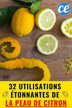 What to do with lemon peel? 32 Uses That Will Nail You The Beak! Colon Detox, Liver Detox, Detox Your Body, Cleaning Hacks, Pineapple, Lemon, Homemade, Orange, Fruit