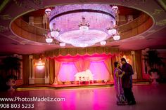 Punjabi Bride and Groom in their First Dance at the Wedding Reception at Leonard's Palazzo, NY.   Along  with fellow vendors Flawless Beauty by Pauline, The Dhol Xperience, Premini Events and Stylish Events. Featured in South Asian Bridal Magazine,SAB.