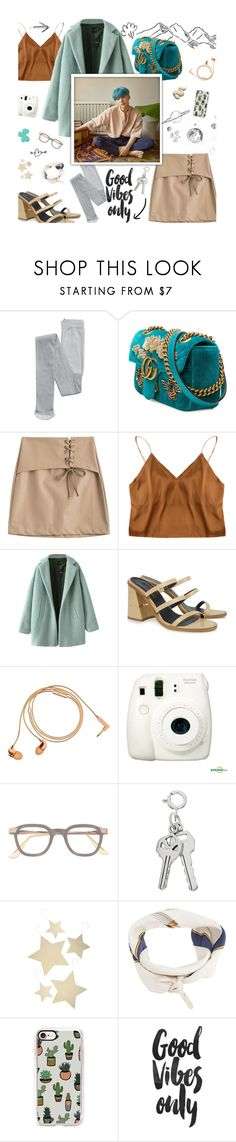 """""""+a good friend is my nearest relation..."""" by bstfashion ❤ liked on Polyvore featuring Gucci, Chicnova Fashion, TIBI, Happy Plugs, Fujifilm, Bethany Lowe, Hermès and Casetify"""