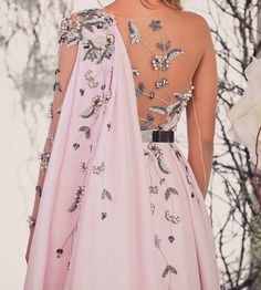 """andantegrazioso: """"Pink and silver embroidery cape dress Indian Gowns Dresses, Evening Dresses, Prom Dresses, Formal Dresses, Bride Dresses, Beautiful Gown Designs, Beautiful Gowns, Dress Outfits, Fashion Dresses"""