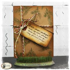 Tammy Tutterow : Stampers Anonymous Classic set #10 http://tammytutterow.com/2012/12/brown-paper-packages-christmas-card/#