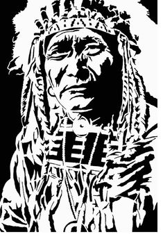 Indian DXF file for your CNC plasma, laser, or router machine, SVG American Indian Art, Native American Art, Art Sketches, Art Drawings, Graffiti Lettering Fonts, Shadow Photos, Native American Pictures, Cowboy Art, Stencil Art