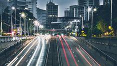 Royalty free photo: city, cars, road, traffic, architecture, blur, bridge, buildings, business, downtown, dusk Sunset Beach, City By Night, Galerie D'art Moderne, Night Driving, Light Sensitivity, Lots Of Money, Extra Money, Paris Ville, Automobile Industry