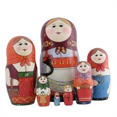 "Traditional Matryoshka ""Black Hen""    FromRussia.com"
