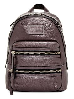 Marc By Marc Jacobs New Domo Biker Metallic Cianite Backpack. Get one of the hottest styles of the season! The Marc By Marc Jacobs New Domo Biker Metallic Cianite Backpack is a top 10 member favorite on Tradesy. Save on yours before they're sold out! Metallic Backpacks, Grey Backpacks, Designer Handbags On Sale, Vintage Bags, Bag Sale, Leather Backpack, Fashion Backpack, Marc Jacobs, Messenger Bag