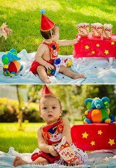 baby boy circus photo shoot sessao de fotos bebe circo
