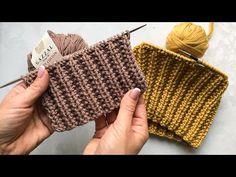 Супер классная двусторонняя резинка спицами для шапок, кардиганов, свитеров. Очень простой узор! - YouTube Loom Knitting, Knitting Patterns, Straw Bag, Stitch, Bags, Youtube, Magazines, Videos, Fashion