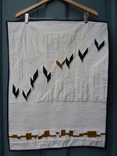 Inspiring mini quilt ala Yoshiko Jinzenji by Alexis Deise of Materials and Method.