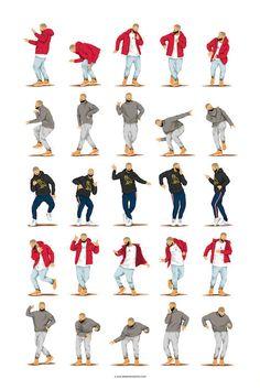 Drake Discover Hotline Bling Dance Music Poster Dance Tutorial Illustration Funny Poster Fun Pop Art Wall Art Hip Hop Fun Gift for Her Gift for Him Línea directa Bling danza música cartel baile por DrawMeASong Arte Pop, Art Drake, Dance Music, Art Music, Drake Dance, Dance Tutorial, Baile Hip Hop, Witcher Wallpaper, Wedding Photography Poses