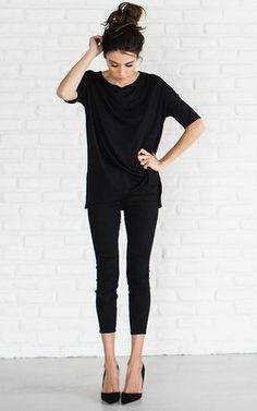 Chic black tee #womenstyle #ILY