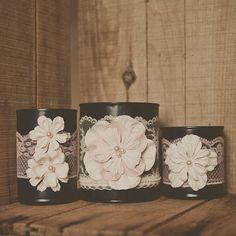 >>>Pandora Jewelry OFF! >>>Visit>> 3 painted tin can. Pink and navy blue blush pink. Tin can vase. Wedding Vase Centerpieces, Wedding Vases, Diy Wedding, Trendy Wedding, Blue Wedding, Pot Mason, Mason Jar Crafts, Tin Can Crafts, Diy Crafts