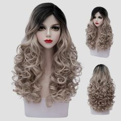 SHARE & Get it FREE | Fluffy Curly Synthetic Elegant Black Flax Ombre Fashion Long Universal Cosplay Wig For WomenFor Fashion Lovers only:80,000+ Items·FREE SHIPPING Join Dresslily: Get YOUR $50 NOW!