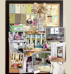Make an inspiration board of colors, textures and fabrics for my room makeover.....A Pin of its own!