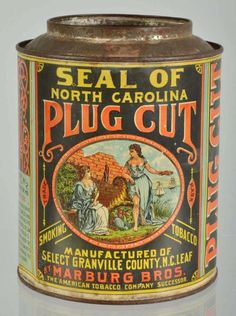 Plug Tobacco Tin
