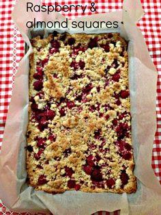 Raspberry & almond squares