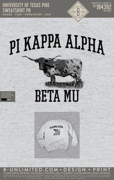 University of Texas Pi Kappa Alpha Sweatshirt PR   Fraternity Event   Greek Event #pikappaalpha #pike #pka #ut Pi Kappa Alpha, University Of Texas, Fraternity, Greek, Feelings, Sweatshirts, Trainers, Sweatshirt, Greece