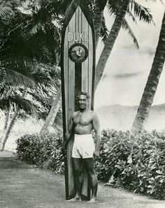 Duke Kahanamoku----Hawai'i's beloved ambassador of aloha and a public figure unrivaled in grace and humility, Duke Kahanamoku's legacy transcends his outstanding resume of Olympic gold medals, daring surf adventures, and Hollywood movies.